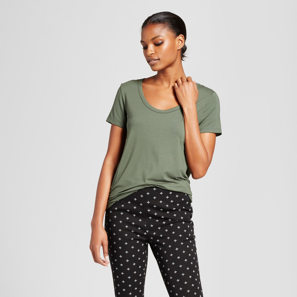 Womens Any Day Scoop T-Shirt - A New Day Moss (Green) XS