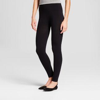 70be6ea3d93fc6 Womens Cotton Blend Seamless Waistband Leggings - A New Day™ Black ...