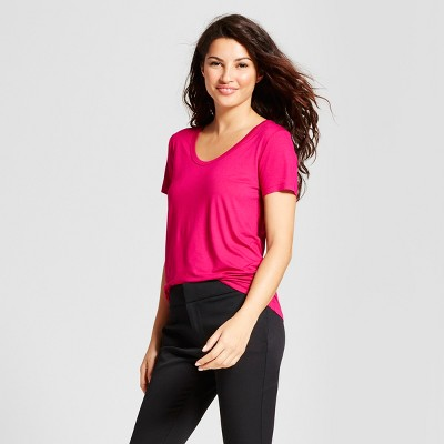 Women's Any Day Scoop T-Shirt - A New Day™ Magenta S