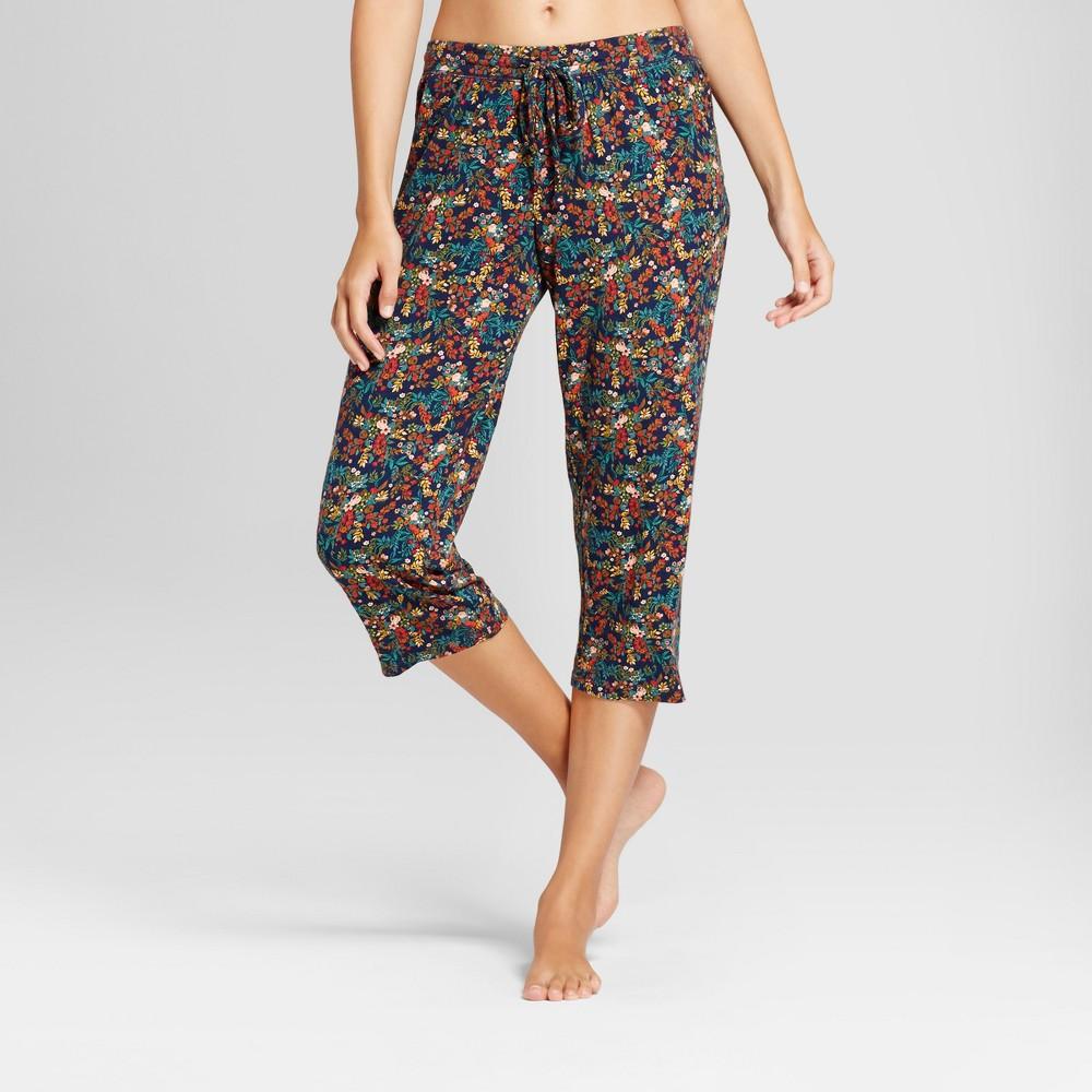 Womens Pajama Pants Navy L, Blue
