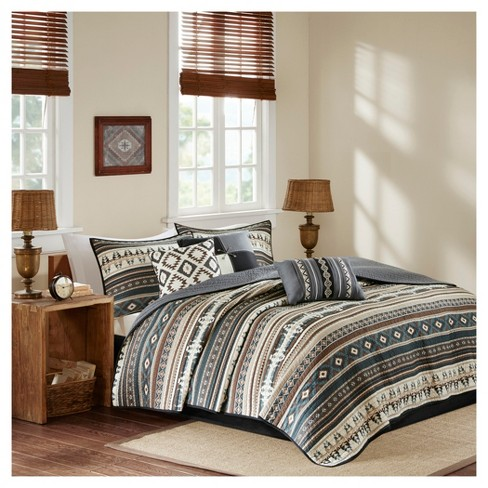 Duncan Printed Quilt Set 6pc - image 1 of 6