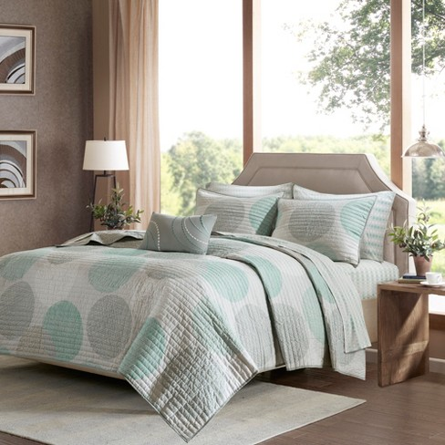 Cabrillo Printed Quilt Set 8pc - image 1 of 7