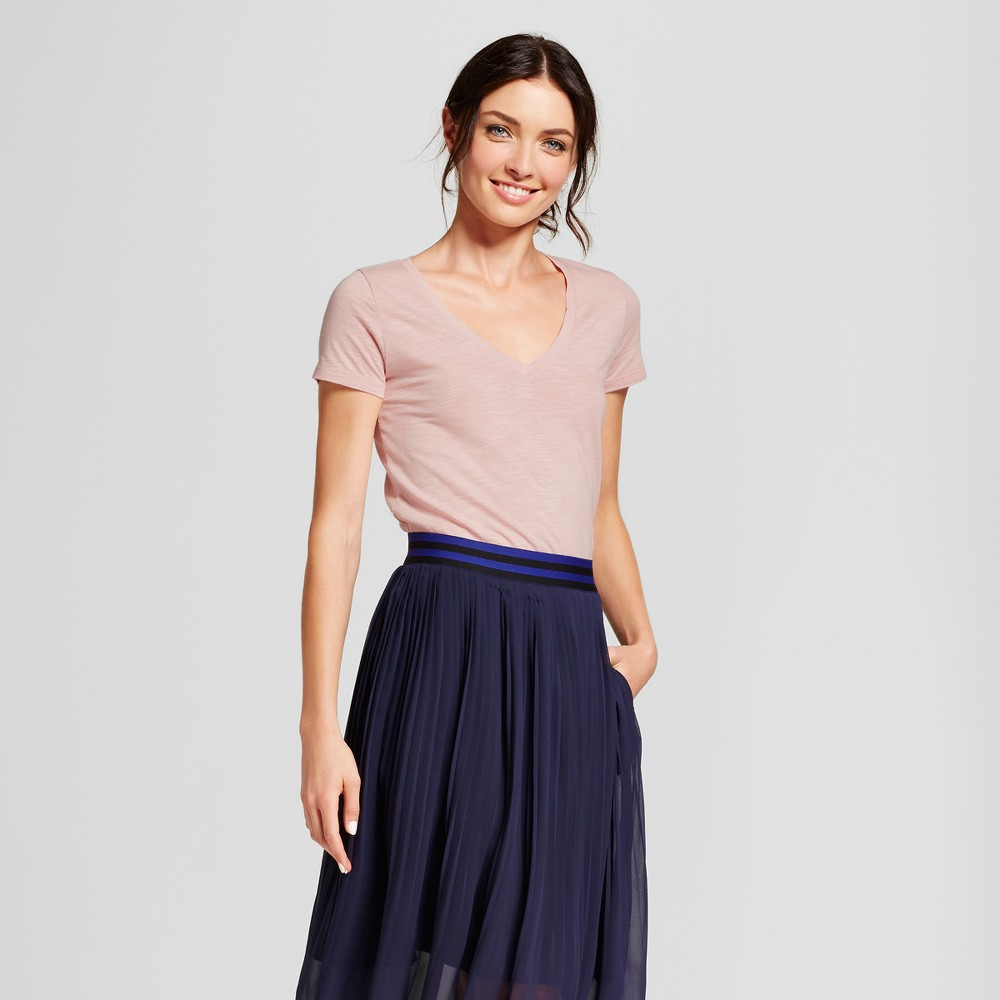 Womens Vintage V-Neck T-Shirt - A New Day Blush XL