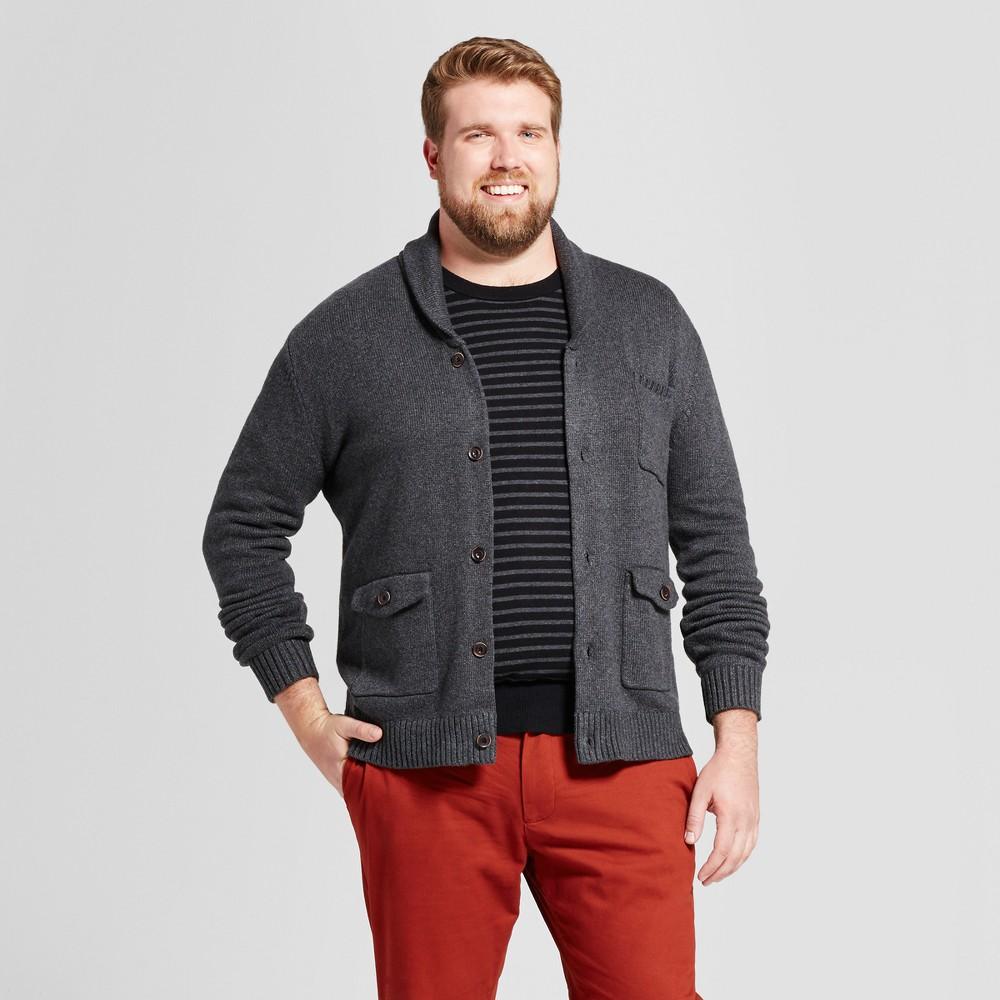 Mens Big & Tall Shawl Pocket Cardigan - Goodfellow & Co Charcoal (Grey) 2BXT, Size: 2XB Tall