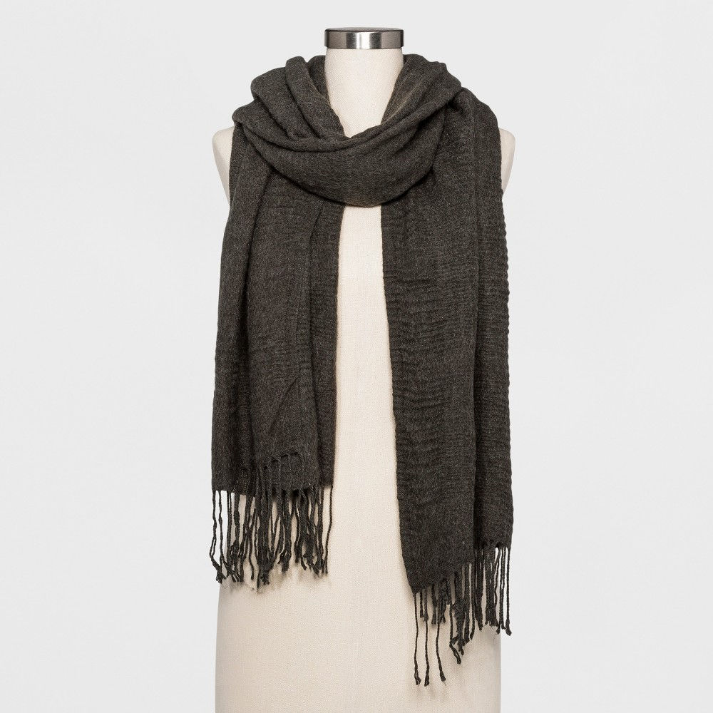 Womens Textured Scarf A New Day Gray