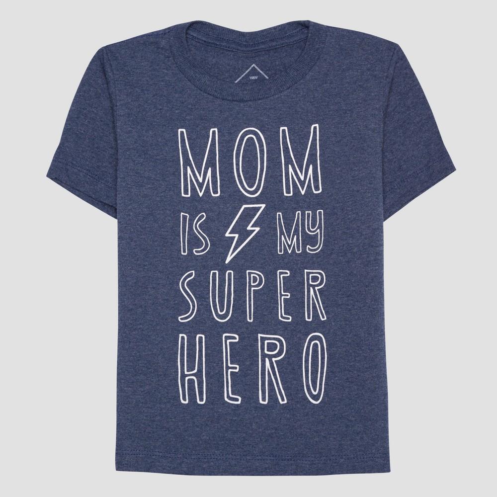 Toddler Boys Super Hero Mom Short Sleeve T-Shirt - Blue 12M, Size: 12 M