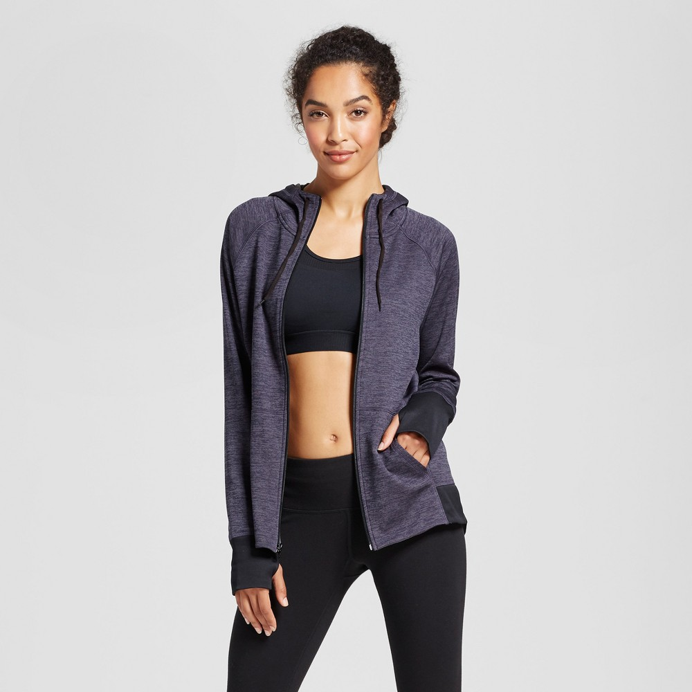Womens Tech Fleece Full Zip Hoodie - C9 Champion Dark Heather Gray XL, Ps Dark Gray Heather