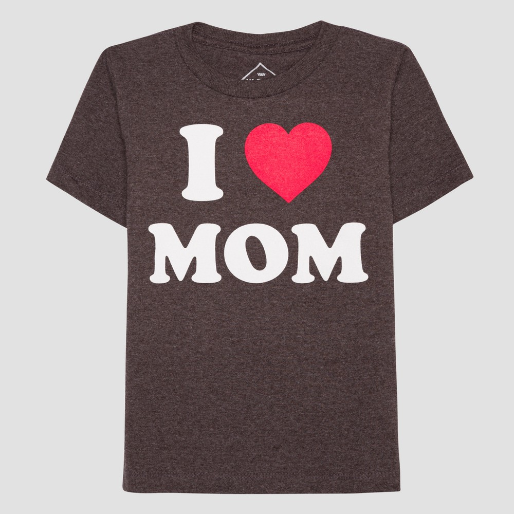 Boys' I Heart Mom Short Sleeve T-Shirt - Black L