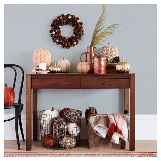 Felt basket brown 12 5 threshold target for American style christmas decorations