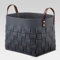 "Felt Basket Military Blue 12.5"" - Threshold™"