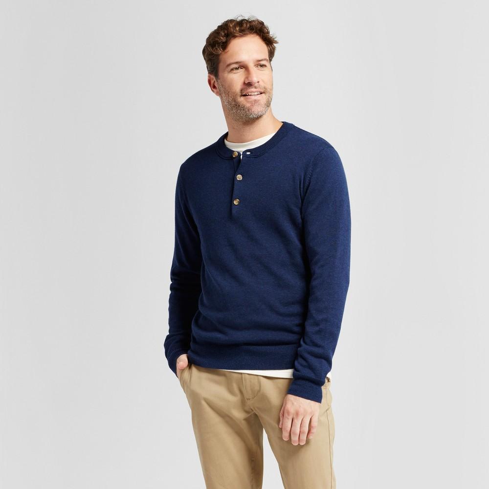 Mens Henley Sweater - Goodfellow & Co Navy (Blue) M