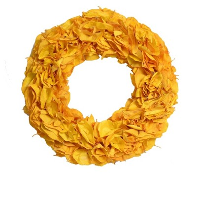 Dried Cobra Leaves Wreath - Yellow - Smith & Hawken™