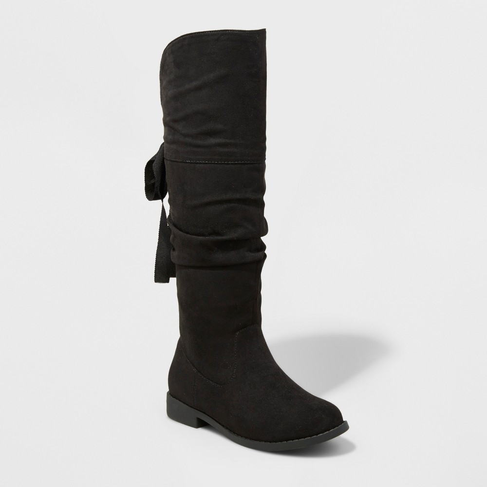 Girls Sofia Over The Knee Scrunch Boot Cat & Jack Black 13