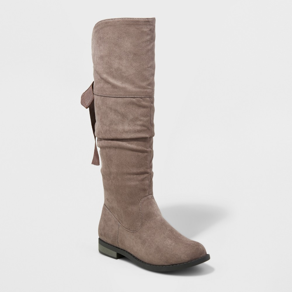 Girls Sofia Over The Knee Scrunch Boot Cat & Jack Gray 5