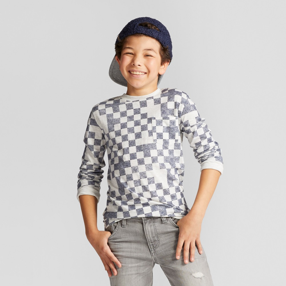 Boys Printed Long Sleeve T-Shirt - Cat & Jack White L