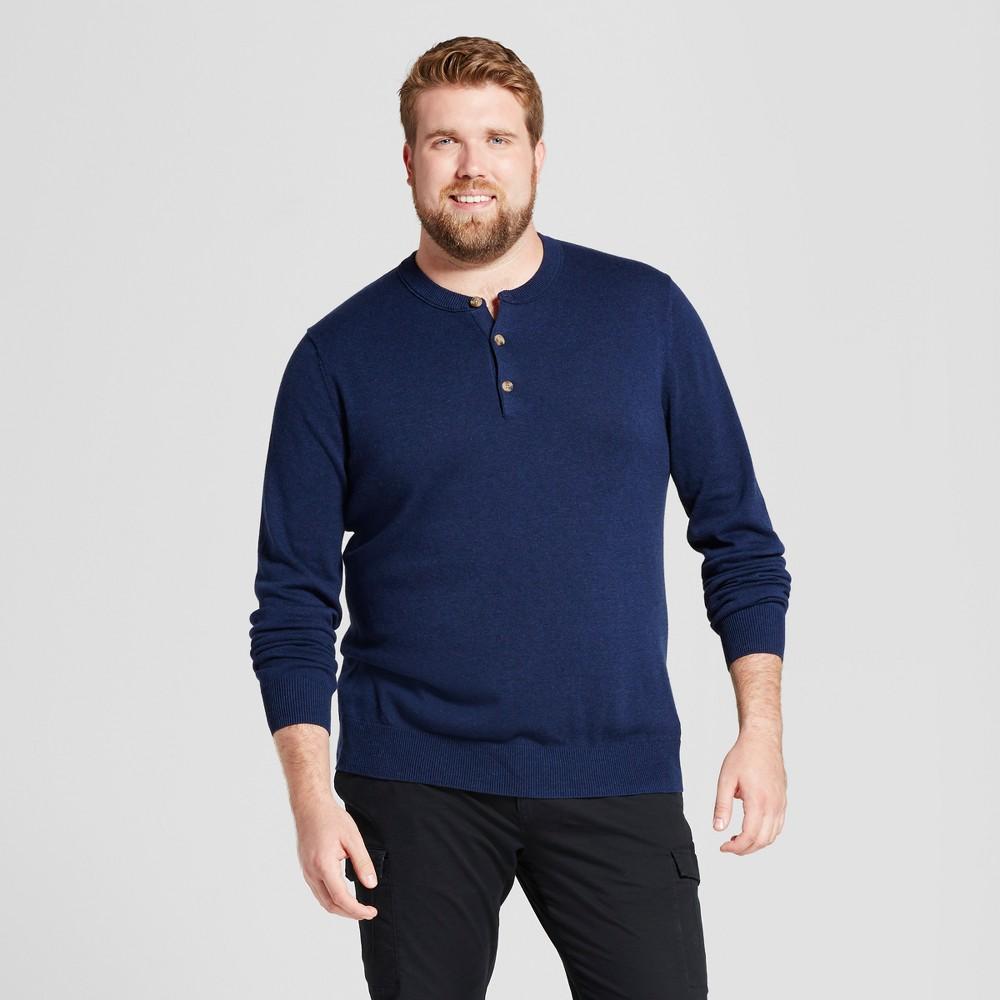 Mens Big & Tall Henley Sweater - Goodfellow & Co Navy (Blue) 3XB