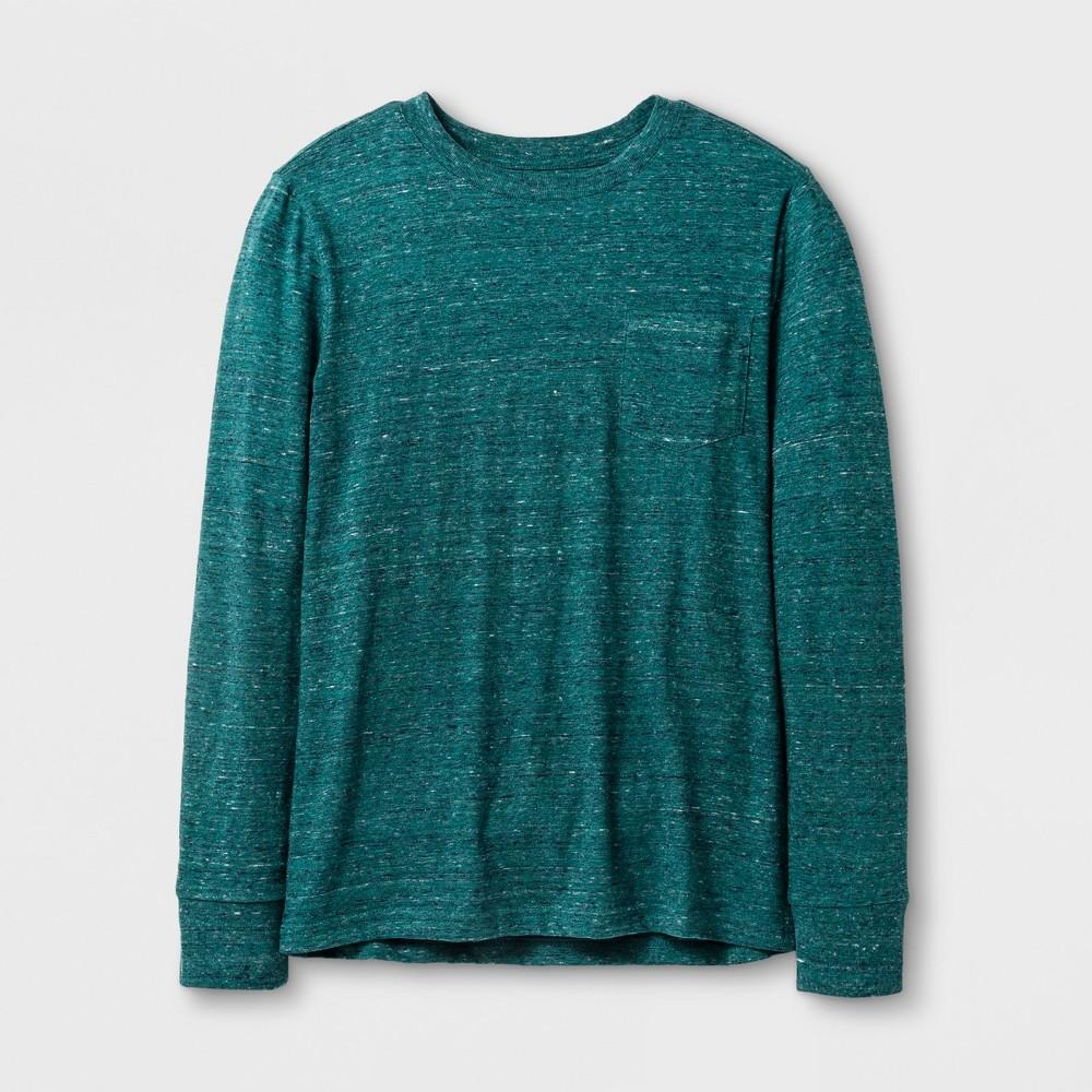 Boys Long Sleeve T-Shirt - Cat & Jack Heathered Green M