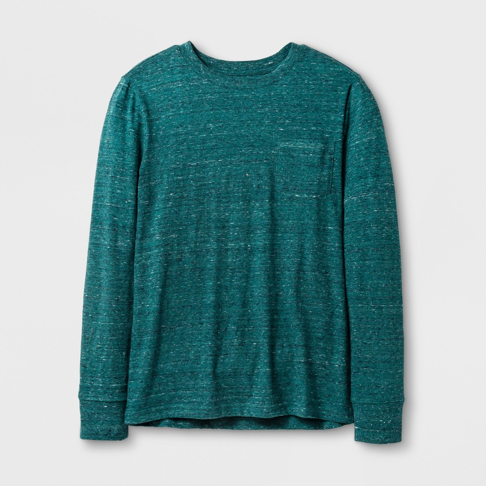 Boys' Long Sleeve T-Shirt - Cat & Jack Heathered Green XL