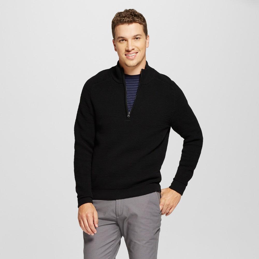 Mens Quarter Zip Sweater - Goodfellow & Co Black L
