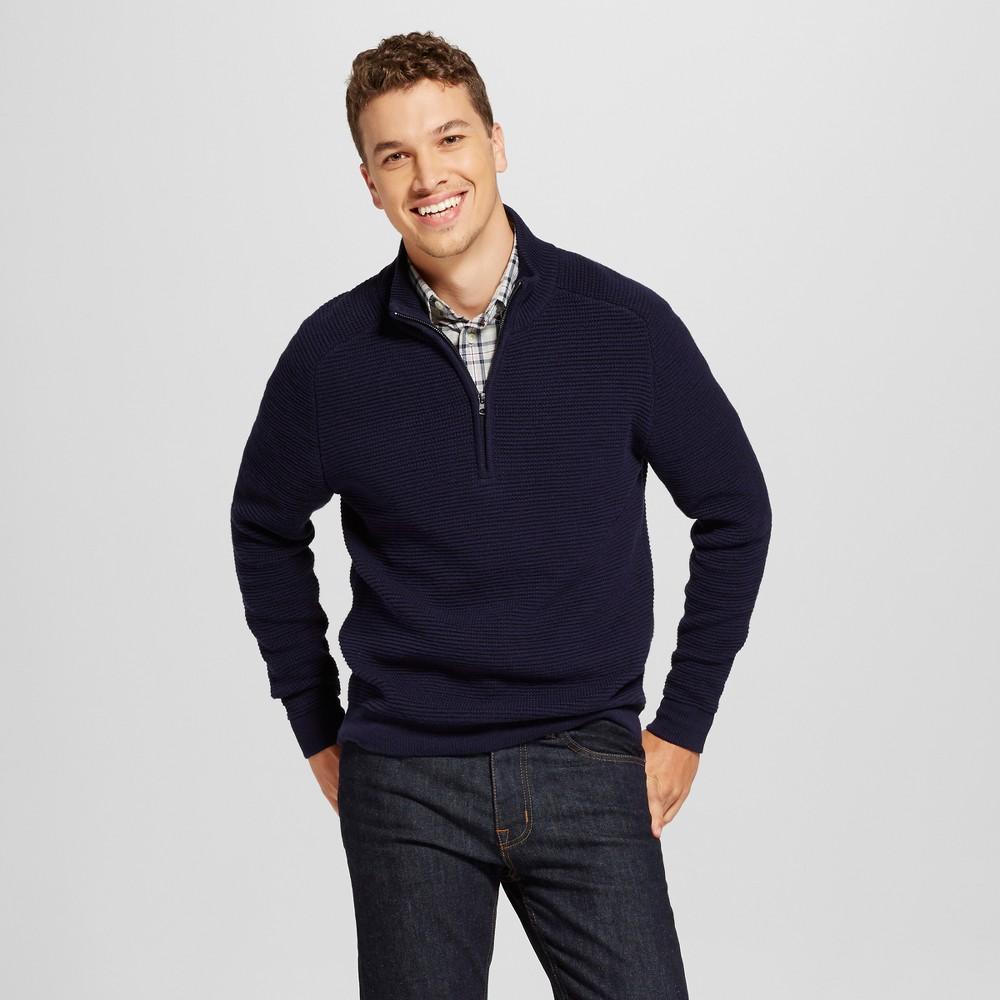 Mens Quarter Zip Sweater - Goodfellow & Co Navy (Blue) Xxl