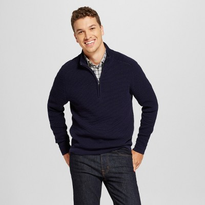 Men's Quarter Zip Sweater - Goodfellow & Co™ Navy M