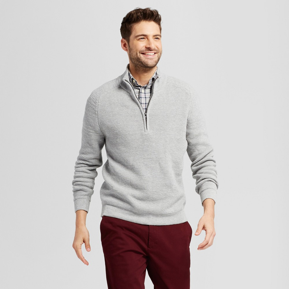 Mens Quarter Zip Sweater - Goodfellow & Co Gray S