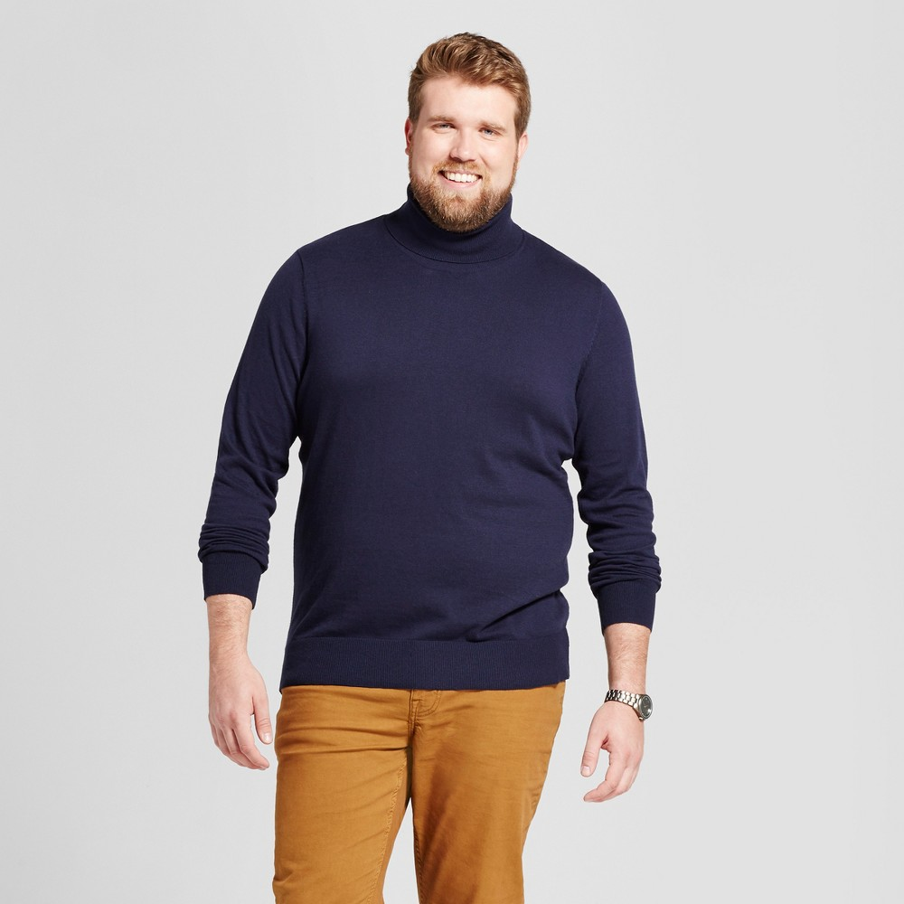 Mens Big & Tall Turtle Neck - Goodfellow & Co Navy (Blue) Xlt