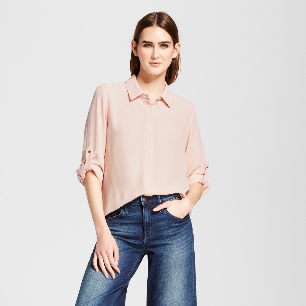 Womens Convertible Sleeve Top - Mossimo Pink L
