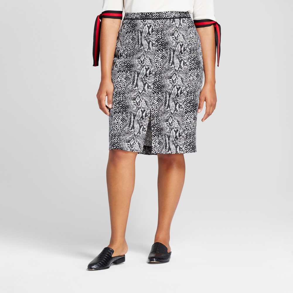 Womens Plus Size Pencil Skirt - Who What Wear Snakeskin 16W