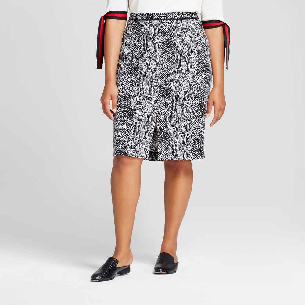 Womens Plus Size Pencil Skirt - Who What Wear Snakeskin 14W