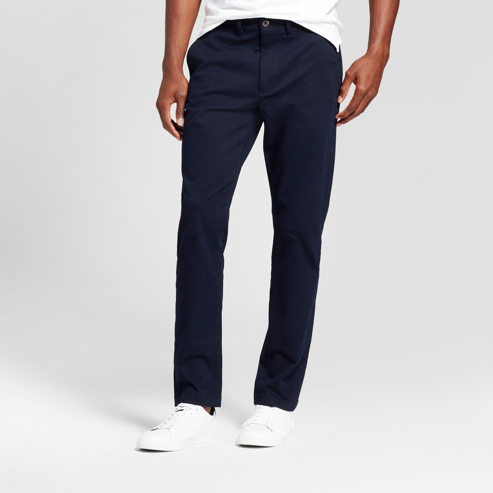 Mens Slim Fit Hennepin Chino Pants - Goodfellow & Co Navy (Blue) 34x30