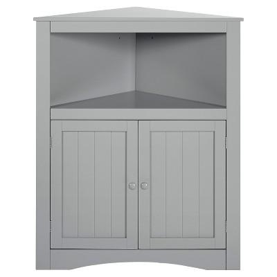 RiverRidge® - Kids 2-Door Corner Cabinet - Gray