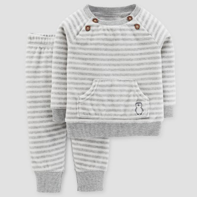 Baby Boys' 2pc Sweater and Pants Set - Just One You™ Made by Carter's® Heather Gray 18M