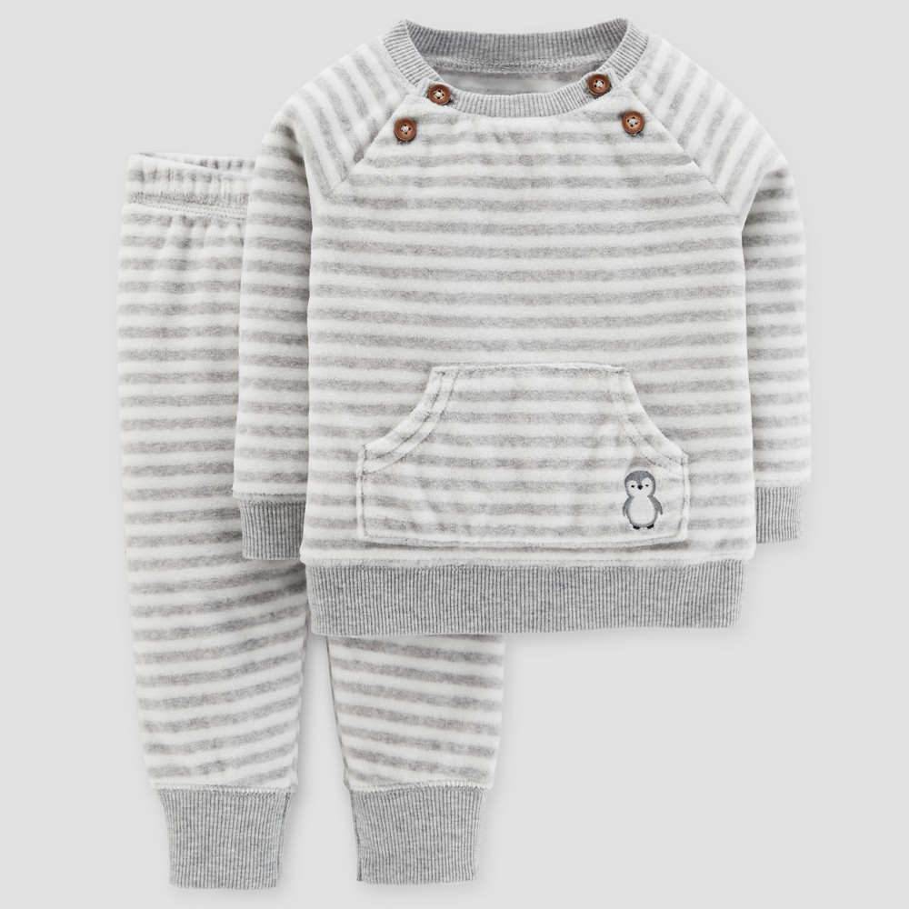 Baby Boys 2pc Sweater and Pants Set - Just One You Made by Carters Heather Gray 18M