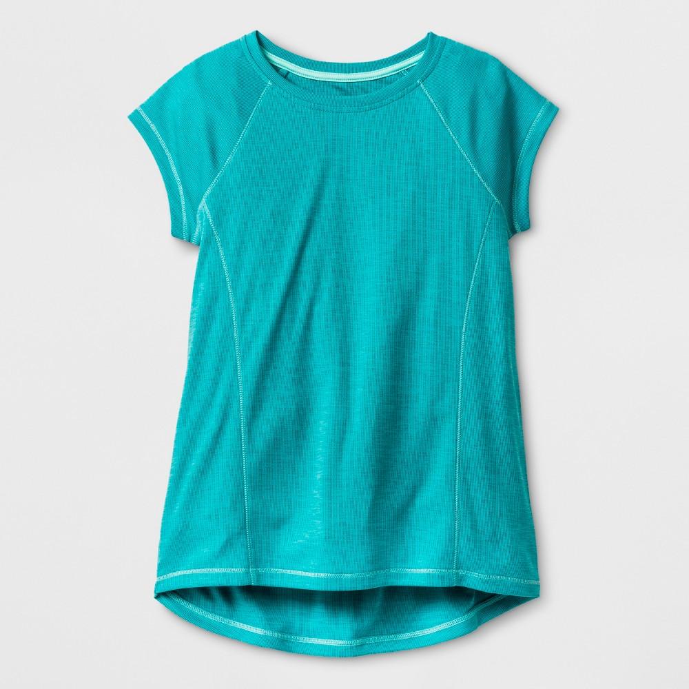 Girls Novelty Tech T-Shirt - C9 Champion Upbeat Teal (Blue) Heather M