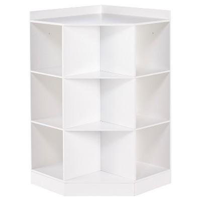 RiverRidge® - Kids 6-Cubby, 3-Shelf Corner Cabinet - White
