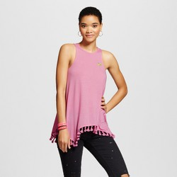 Women's Embroidered Palm Tree Graphic Tunic Pink - Fifth Sun (Juniors')
