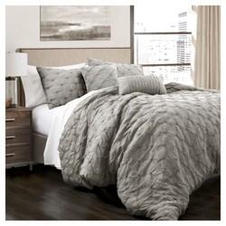 Ravello Pintuck Comforter Set 5pc - Lush Decor