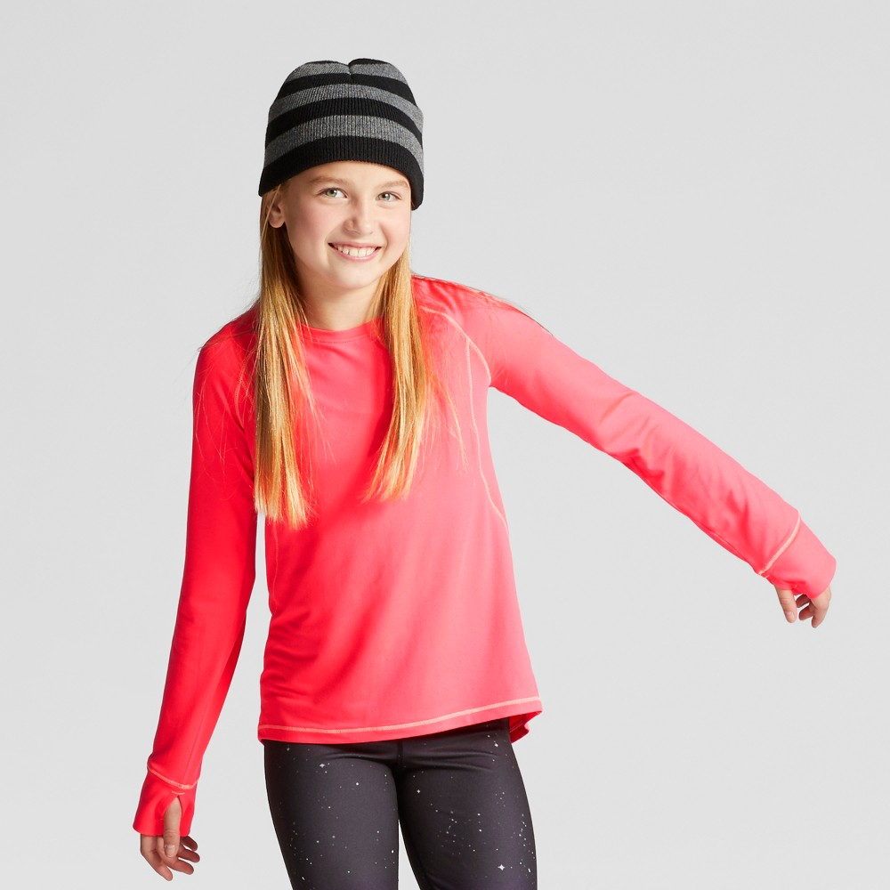 Girls Soft Long Sleeve Tech T-Shirt - C9 Champion Razzle Pink M