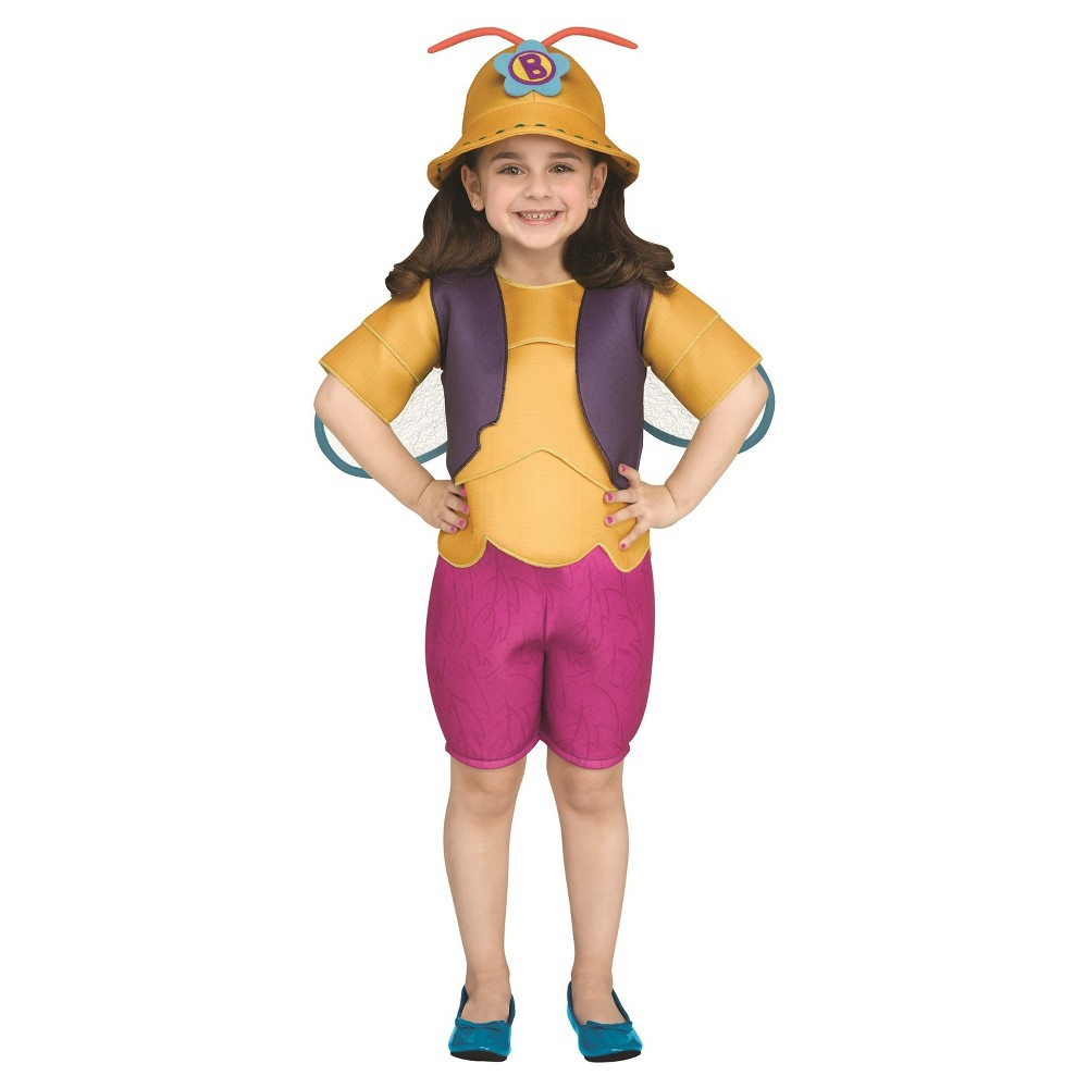 Beat Bugs Buzz Toddler Costume 2T-3T, Toddler Girls, Multicolored