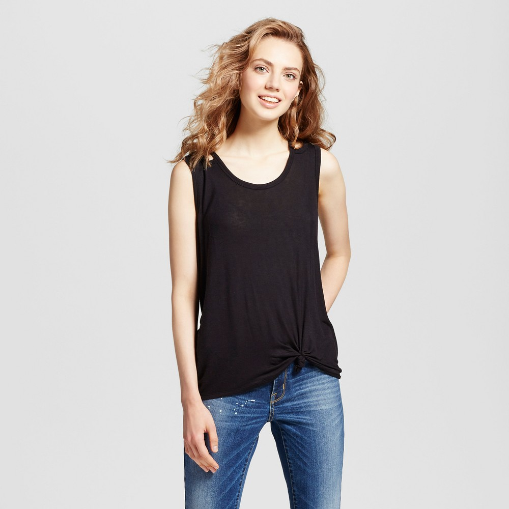 Womens Knot Front Tank - Mossimo Supply Co. Black XL