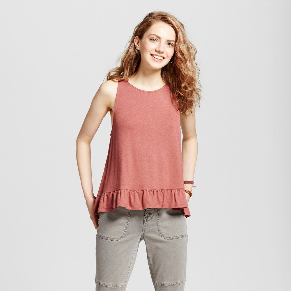Womens Ruffle Tank - Mossimo Supply Co. Rose XS, Brown