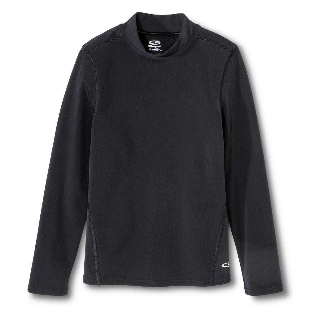 Girls' Power Core Brushed Compression Long Sleeve Mock - C9 Champion - Black L