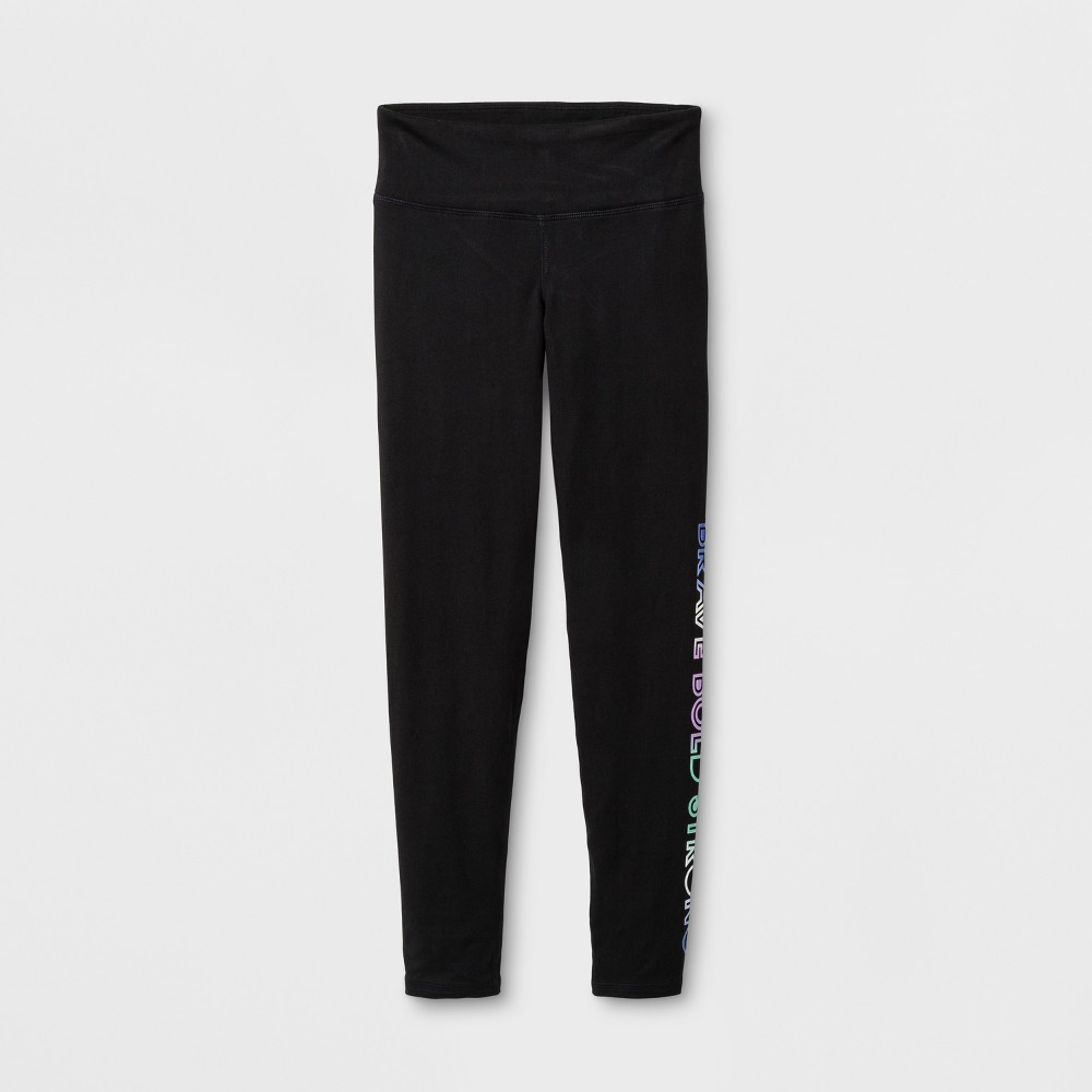 Girls Graphic Performance Leggings - C9 Champion Black L