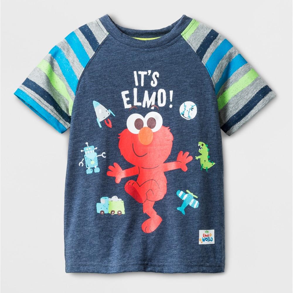 T-Shirt Elmo Blue 18 M, Toddler Boys, Size: 18 Months