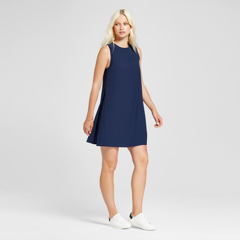 Womens Sleeveless Layered Shift Dress - Mossimo Navy (Blue) Xxl