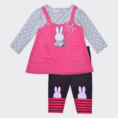 Baby Girls' Miffy® 2pc Jumper and Leggings Set - Pink 24M