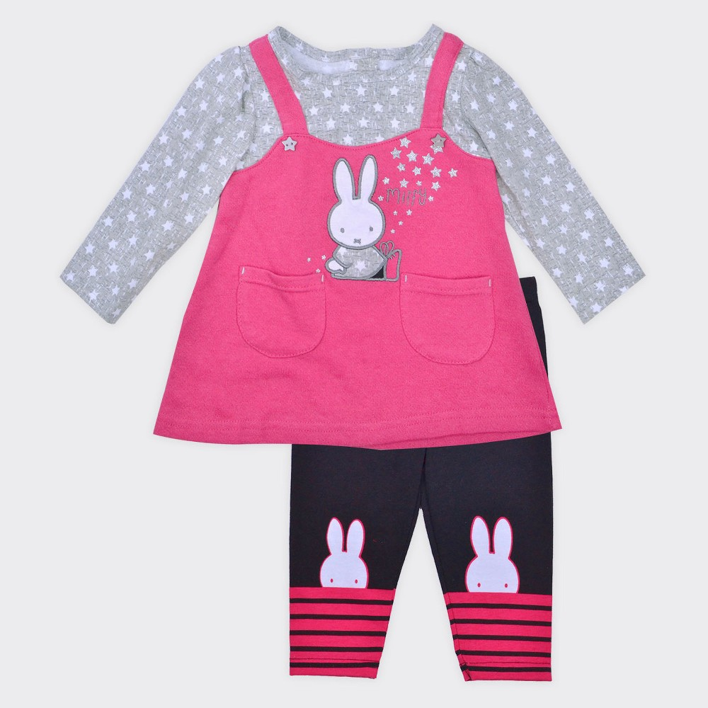 Baby Girls Miffy 2pc Jumper and Leggings Set - Pink 24M, Size: 24 M