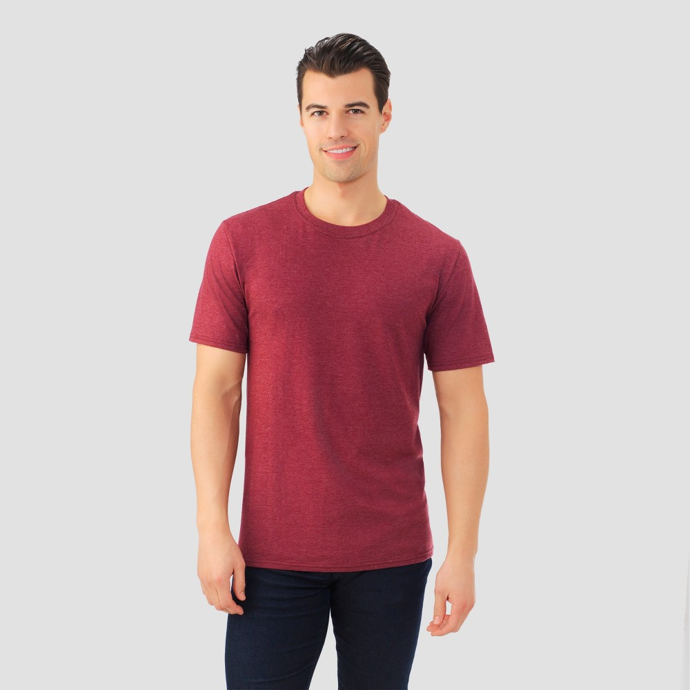 Fruit Of The Loom Mens Short Sleeve T-Shirt - Athletic Maroon (Red) Heather 2XL, Size: Xxl