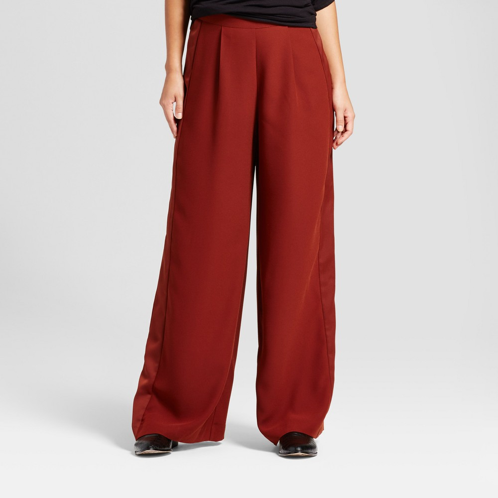 Womens Wide Leg Pants - Mossimo Red L
